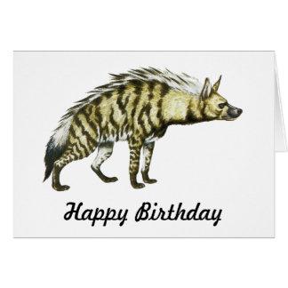Wild Hyena Animal Illustration Card