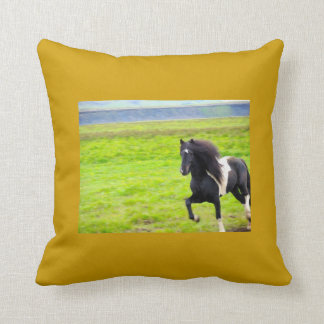 Wild Icelandic Stallion Pillow