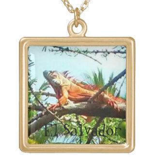 Wild Iguana Gold Plated Men's Necklace