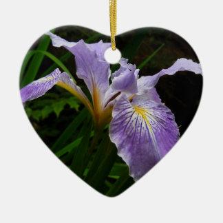 Wild Iris Flower Ceramic Ornament