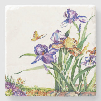 Wild Irises Stone Coaster