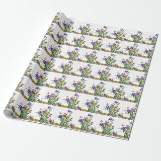 Wild Irises Wrapping Paper