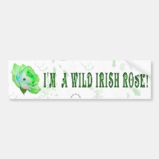 Wild Irish Rose Car Bumper Sticker