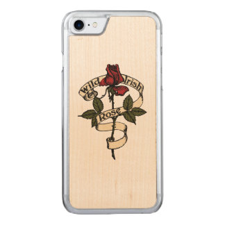 Wild Irish Rose Carved iPhone 7 Case
