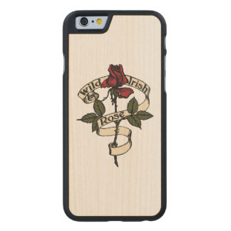 Wild Irish Rose Carved Maple iPhone 6 Slim Case