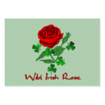 Wild Irish Rose Large Business Cards (Pack Of 100)