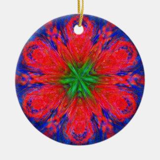 Wild Irish Rose Double-Sided Ceramic Round Christmas Ornament