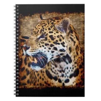 Wild Jaguar Spotted Panther Animal Lover Artwork Spiral Note Books
