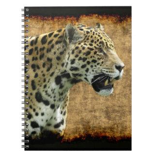 Wild Jaguar Spotted Panther Animal Lover Artwork Spiral Notebook