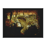 Wild Jaguar Spotted Panther Animal Lover Stretched Canvas Prints