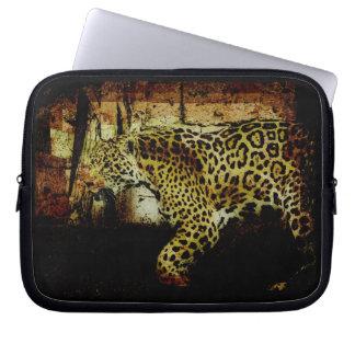 Wild Jaguar Spotted Panther Animal Lover Computer Sleeve