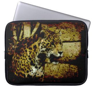 Wild Jaguar Spotted Panther Animal Lover Laptop Sleeve