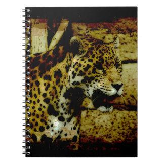 Wild Jaguar Spotted Panther Animal Lover Spiral Notebooks