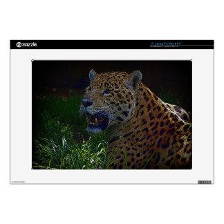 "Wild Jaguar Spotted Panther Animal-lover 15"" Laptop Decals"
