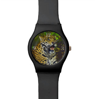 Wild Jaguar Spotted Panther Animal Lover Wristwatches