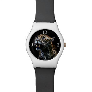 Wild Jaguar Spotted Panther Animal Lover Wrist Watches