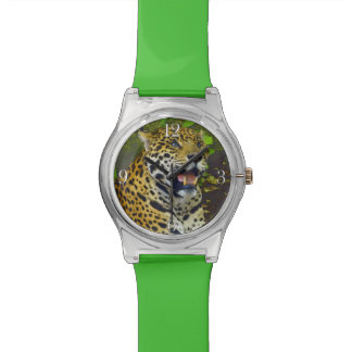 Wild Jaguar Spotted Panther Animal Lover Wrist Watch