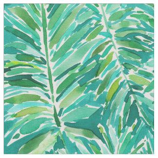 WILD JUNGLE Tropical Palm Watercolor Fabric