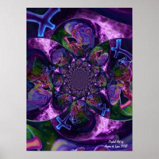 Wild Kaleidoscope Saturn Print
