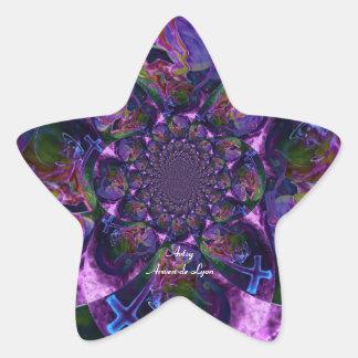 Wild Kaleidoscope Saturn Star Sticker