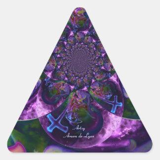Wild Kaleidoscope Saturn Triangle Sticker