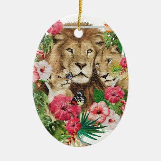 Wild King Jungle Lion Animals Ceramic Ornament