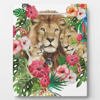 Wild King Jungle Lion Animals Plaque