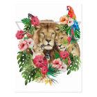 Wild King Jungle Lion Animals Postcard