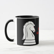 Wild Knights Black & White Chess School Mug
