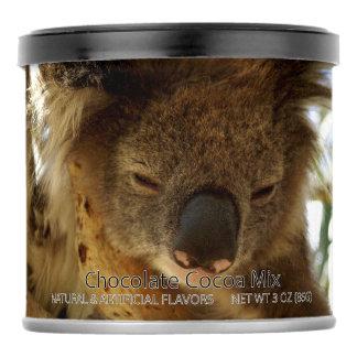 Wild koala sleeping on eucalyptus tree Party Favor Hot Chocolate Drink Mix