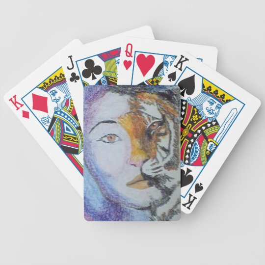 wild lady playing cards