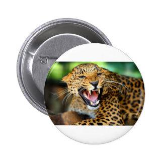 Wild Leopard Button
