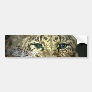 Wild Leopard Eyes Artwork Bumper Sticker Car Bumper Sticker