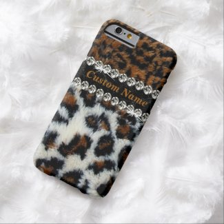 Wild Leopard Fur Print iPhone 6 Case