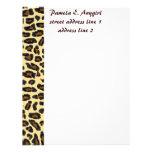 Wild Leopard Fur stationery Letterhead