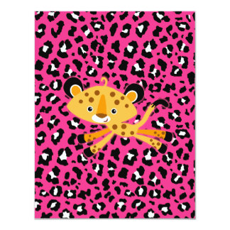 wild leopard HOT PINK baby shower invitations! Card