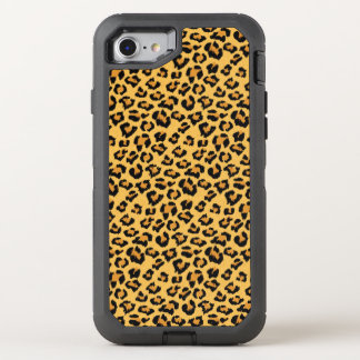 Wild Leopard or Jaguar Print Faux Fur Pattern OtterBox Defender iPhone 7 Case