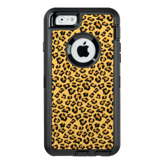Wild Leopard or Jaguar Print Faux Fur Pattern OtterBox Defender iPhone Case