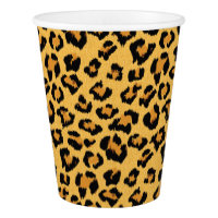 Wild Leopard or Jaguar Print Safari Animal Pattern Paper Cup