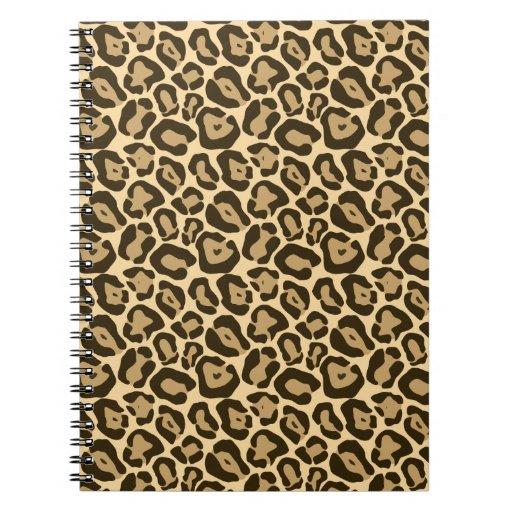 Wild Leopard Pattern Notebook
