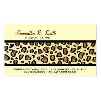 Wild Leopard Print Stripe Business Card
