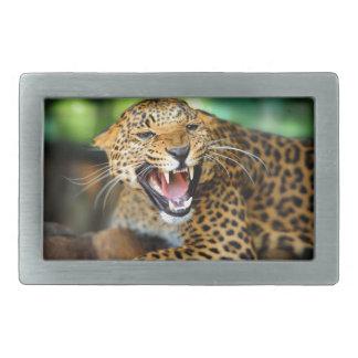 Wild Leopard Rectangular Belt Buckle