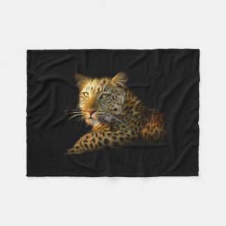 Wild Leopard Small Fleece Blanket