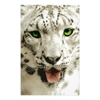 Wild Leopard Stationery Design