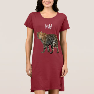 Wild Leopard Women's T-Shirt Dress/Nightie