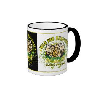 Wild Leopards Ringer Coffee Mug
