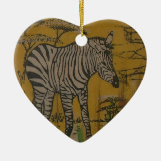 Wild Life Kenya African Safari Zebra.png Ceramic Ornament