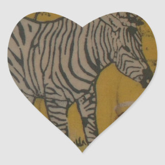 Wild Life Kenya African Safari Zebra.png Heart Sticker