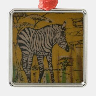Wild Life Kenya African Safari Zebra.png Metal Ornament