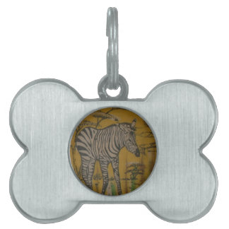 Wild Life Kenya African Safari Zebra.png Pet ID Tag